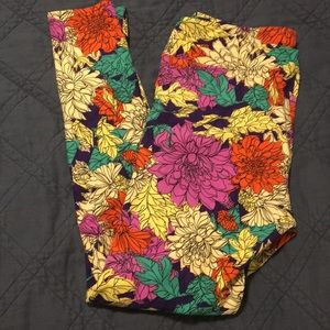 LuLaRoe flower pattern TC leggings new!